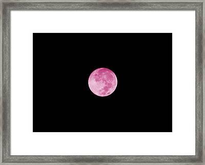 Bubblegum Moon Framed Print