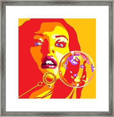 Bubbles 2 Framed Print by Heli Luukkanen