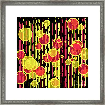 Bubbles And Lines Framed Print by Gaspar Avila
