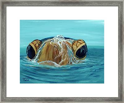 Framed Print featuring the painting Bubbles by Darice Machel McGuire