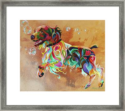 Bubbles  English Springer Framed Print