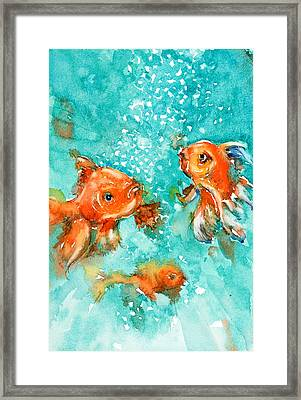 Bubbles Framed Print by Judith Levins