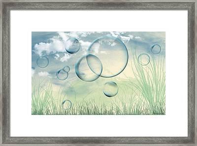 Bubbles Framed Print by Karen Kanaby