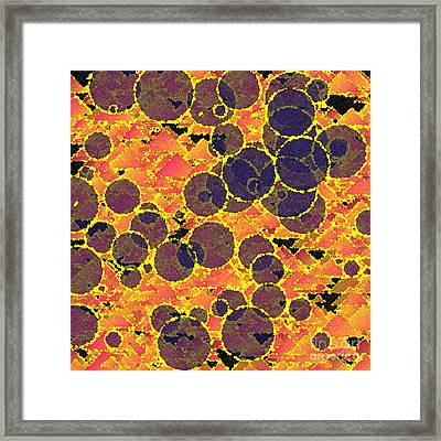 Bubbles Orange Abstract Framed Print
