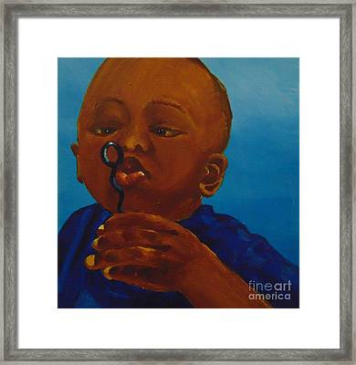 Framed Print featuring the painting Bubbles by Saundra Johnson