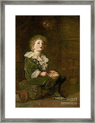 Bubbles Framed Print by Sir John Everett Millais
