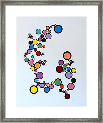 Bubbles2 Framed Print by Thomas Gronowski