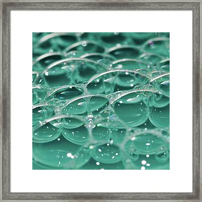 Bubblestract Framed Print