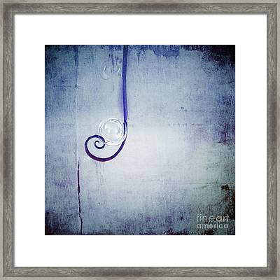Framed Print featuring the digital art Bubbling - 033a by Variance Collections