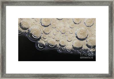 Bubbling On Egg Shell Framed Print