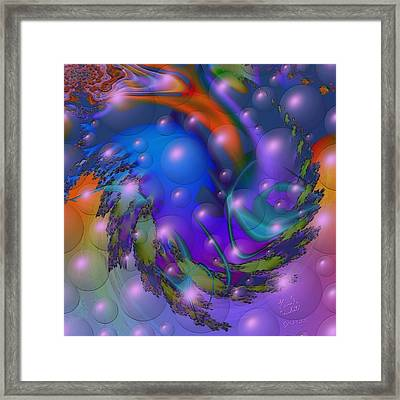Bubbling Over With Enthusiasim Framed Print