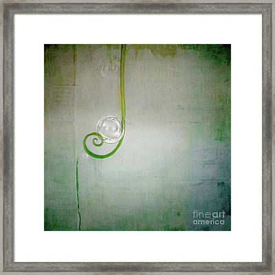 Framed Print featuring the digital art Bubbling -  S24aabbcc by Variance Collections