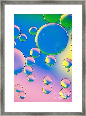 Bubbling Framed Print by Tim Gainey