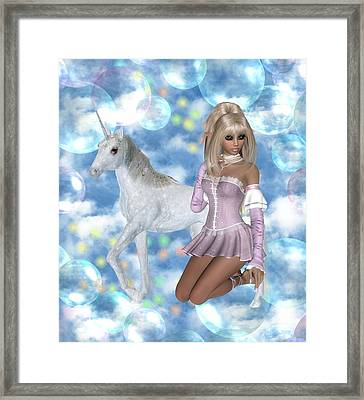 Bubbly Blonde Framed Print by Morning Dew