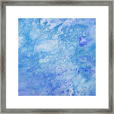 Bubbly Blues Framed Print