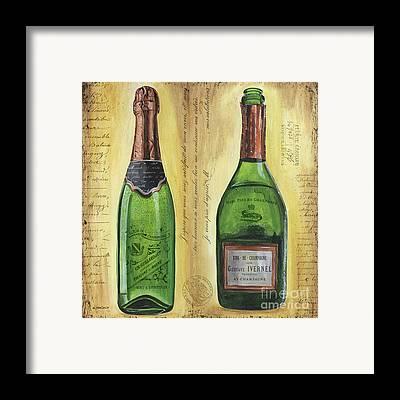 Champagne Mixed Media Framed Prints