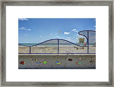 Buccaneer Beach Framed Print by Ann Patterson