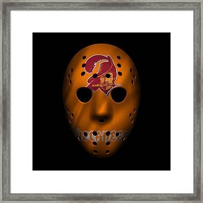 Buccaneers War Mask Framed Print by Joe Hamilton