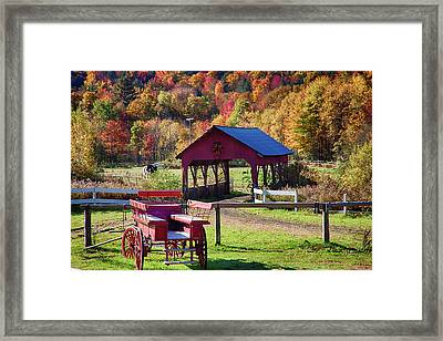 Framed Print featuring the photograph Buck Board Ready For Fall Colors by Jeff Folger