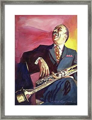 Buck Clayton Jazz Trumpet Framed Print by David Lloyd Glover