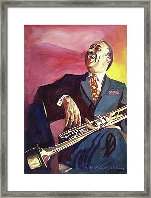 Buck Clayton Jazz Trumpet Framed Print by David Lloyd Glover