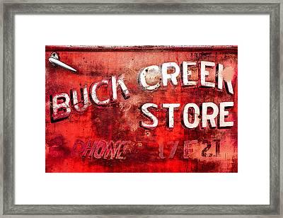 Buck Creek Store Framed Print by Todd Klassy