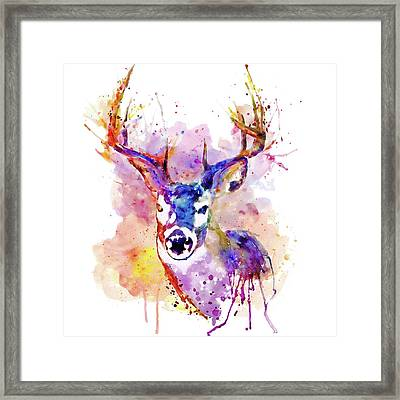 Framed Print featuring the mixed media Buck by Marian Voicu