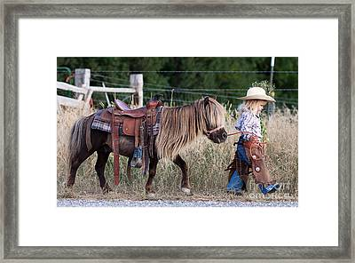Buckaroo Cowgirl Framed Print by Cindy Singleton