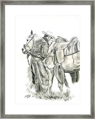 Buckaroo Framed Print by Jana Goode