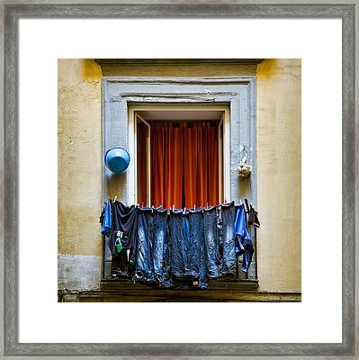 Bucket - Garlic And Jeans Framed Print by Dave Bowman