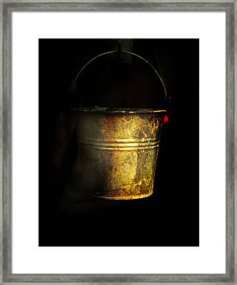 Bucket One Framed Print by Clyde Replogle