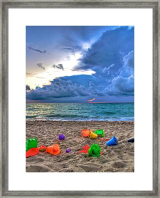 Buckets Of Sand Framed Print