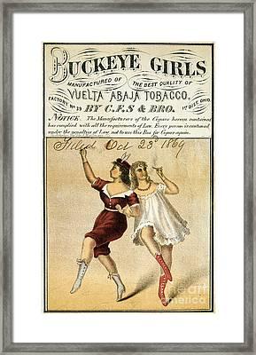 Buckeye Girls Tobacco Poster 1869 Framed Print