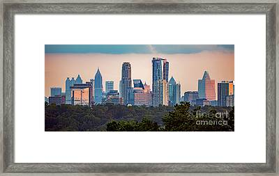 Buckhead Atlanta Skyline Framed Print