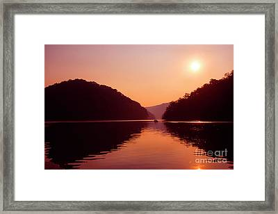 Framed Print featuring the photograph Buckhorn Lake Sunset by Thomas R Fletcher