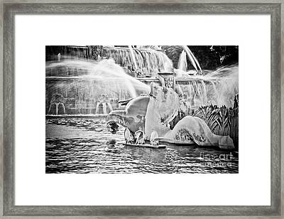 Buckingham Fountain Chicago Framed Print by Paul Velgos