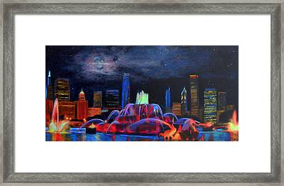 Buckingham Fountain In Chicago Framed Print by Michael Durst