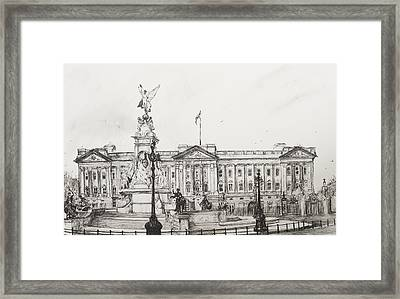 Buckingham Palace Framed Print by Vincent Alexander Booth