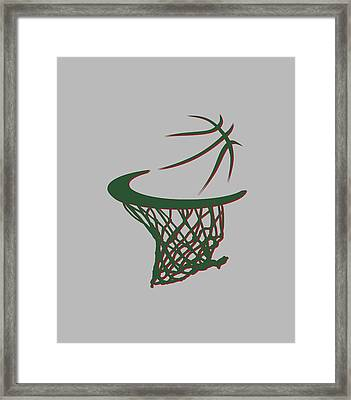 Bucks Basketball Hoop Framed Print