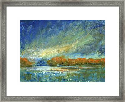Bucks County Autumn Framed Print by Addie Hocynec