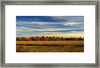 Bucks County Farm In Autumn Framed Print by William Jobes