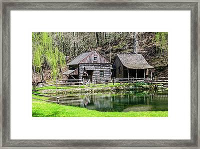 Bucks County In The Spring - Cuttalossa Mill Framed Print by Bill Cannon