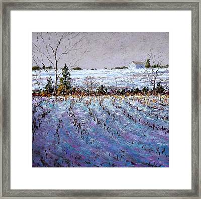 Bucks County January Fields Framed Print by Bob Richey