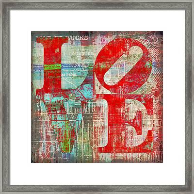 Bucks County Love Framed Print