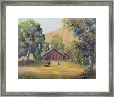 Bucks County Pa Barn Framed Print