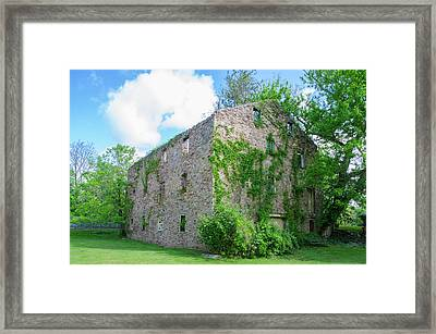 Framed Print featuring the photograph Bucks County Pa - Bridgetown Millhouse Ruins by Bill Cannon