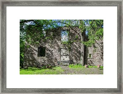 Bucks County Ruin - Bridgetown Mill House Framed Print by Bill Cannon