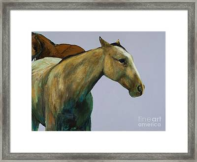 Framed Print featuring the painting Buckskin by Frances Marino