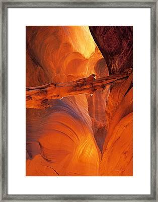 Buckskin Gulch Framed Print by Leland D Howard