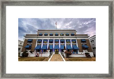 Framed Print featuring the photograph Buckstaff Bathhouse - Christmas by Stephen Stookey